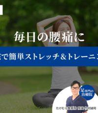 毎日の腰痛に「自宅で簡単ストレッチ&トレーニング」足の専門家が教えます